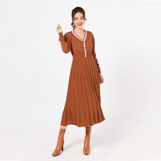 Đầm len xòe dập ly LAMER L63L20T016 (nhiều màu) - 4267250320 thumbnail
