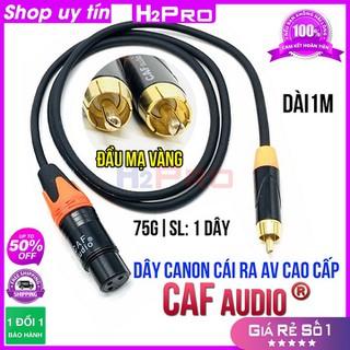 Dây canon cái ra AV Caf AUDIO cao cấp dài 1m H2Pro ( 1 dây ), dây canon cái dài 1m hàng chất lượng cao, cho âm thanh chuẩn - H2WW795 thumbnail