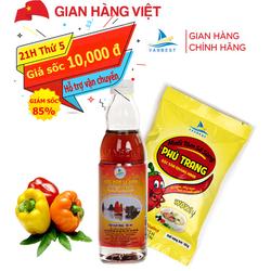 Đặc Sản Quảng Ninh-ComBo Gói muối Sá Sùng 165g và 1 chai Nước Mắm Sá Sùng loại 36N 50ml-Vanbest
