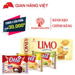 Combo Bánh Limo Mè Dừa 120g và bánh trứng tươi Otto 3 vị - Phạm Nguyên