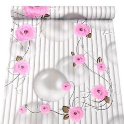 Cuốn 10 mét giấy dán tường hoa hồng bóng 3D khổ rộng 45cm và có keo dán sẵn