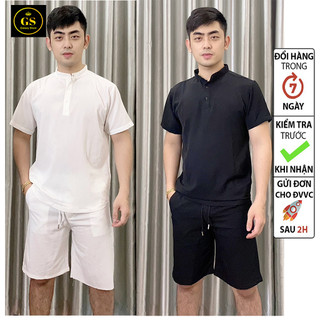 Đồ bộ quần áo nam vải đũi siêu mát mẽ - đồ bộ nam đũi thumbnail