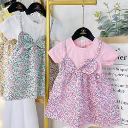 Váy Yếm cho bé họa tiết Hoa Nhí QATE668