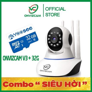 [BH 12 THÁNG] Camera thông minh ONVIZCAM V3 chính hãng app CARECAMPRO nâng cấp từ CAMERA YOOSEE 2 RÂU RẺ NHẤT VIỆT NAM + THẺ NHỚ - CAMV3 3