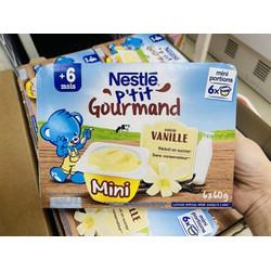 Váng sữa Nestle vị Vani 6x60g - Cho trẻ từ 6 tháng