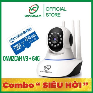 [BH 12 THÁNG] Camera thông minh ONVIZCAM V3 chính hãng app CARECAMPRO nâng cấp từ CAMERA YOOSEE 2 RÂU RẺ NHẤT VIỆT NAM + THẺ NHỚ - CAMV3 2