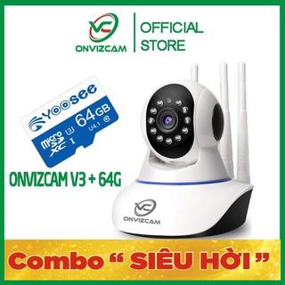 [BH 12 THÁNG] Camera thông minh ONVIZCAM V3 chính hãng app CARECAMPRO nâng cấp từ CAMERA YOOSEE 2 RÂU RẺ NHẤT VIỆT NAM + THẺ NHỚ - CAMV3 thumbnail