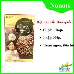 Bột ngũ cốc Hàn Quốc, bột ngũ cốc Damtuh hộp 900g 50 gói nhỏ bên trong ngũ cốc bà bầu thơm ngon và dễ uống.
