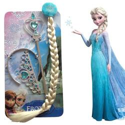 Vương miện công chúa Elsa, Gậy công chúa Elsa, Bím tóc elsa loại dẻo bền đẹp - Phụ kiện tóc cho bé - Smart Baby