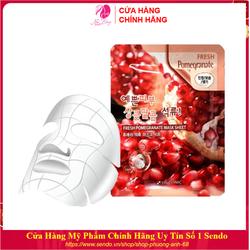 Mặt nạ giấy - Mặt nạ dưỡng da chiết xuất từ Lựu Đỏ 3W Clinic Hàn Quốc 23ml