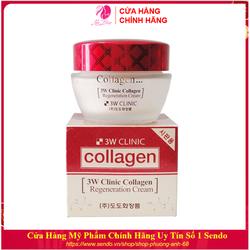 Kem dưỡng trắng da - Kem dưỡng da dưỡng ẩm săn chắc chống lão hóa Collagen 3W Clinic Hàn Quốc 60g