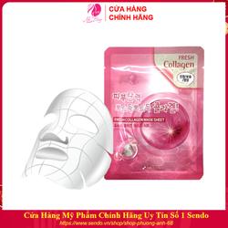 Mặt nạ giấy - Mặt nạ dưỡng da chiết xuất Collagen 3W Clinic Hàn Quốc 23ml