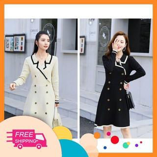 Đầm len xòe dự tiệc, dạo phố, công sở, nữ tính, sang trọng, thời trang-OS-05 - 601337831706 thumbnail