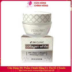 Kem dưỡng trắng da - Kem dưỡng da dưỡng ẩm chống lão hóa từ Collagen 3W Clinic Hàn Quốc 60ml