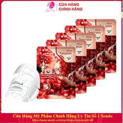 Combo 10 Túi Mặt nạ giấy - Mặt nạ dưỡng da chiết xuất từ Lựu Đỏ 3W Clinic Hàn Quốc 23mlx10