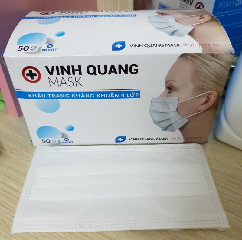 Khẩu trang y tế than hoạt tính 4 lớp VINH QUANG Mask kháng khuẩn 99% VI KHUẨN VÀ BỤI MỊN - QC KHẨU TRANG 4 LỚP 4