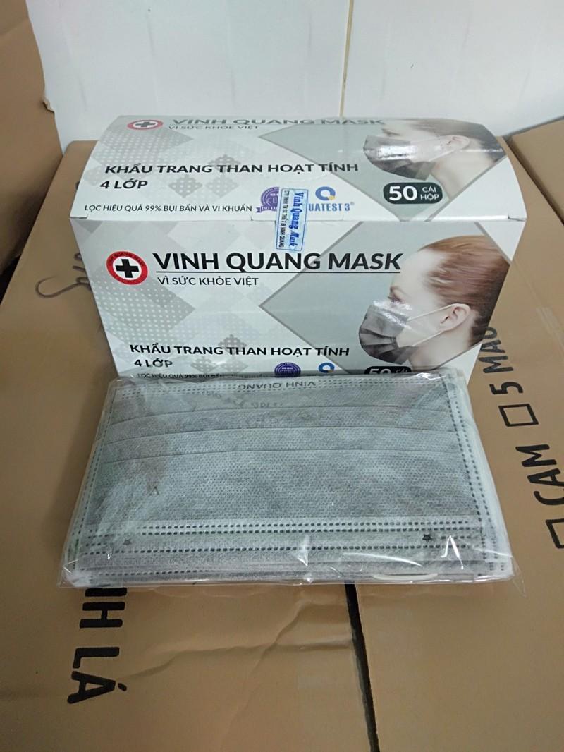 Khẩu trang y tế than hoạt tính 4 lớp VINH QUANG Mask kháng khuẩn 99% VI KHUẨN VÀ BỤI MỊN - QC KHẨU TRANG 4 LỚP 3