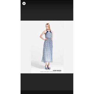 Đầm trắng giày trắng sọc xanh dương, cam - D38 thumbnail