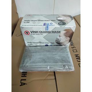 Khẩu trang y tế than hoạt tính 4 lớp VINH QUANG Mask kháng khuẩn 99% VI KHUẨN VÀ BỤI MỊN - QC KHẨU TRANG 4 LỚP 7