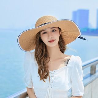 Mũ rộng vành đi biển nữ gắn nơ che nắng mùa hè siêu đẹp - MVR thumbnail