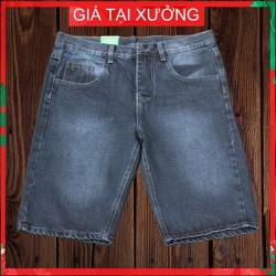 Quần short jeans nam màu xám đen