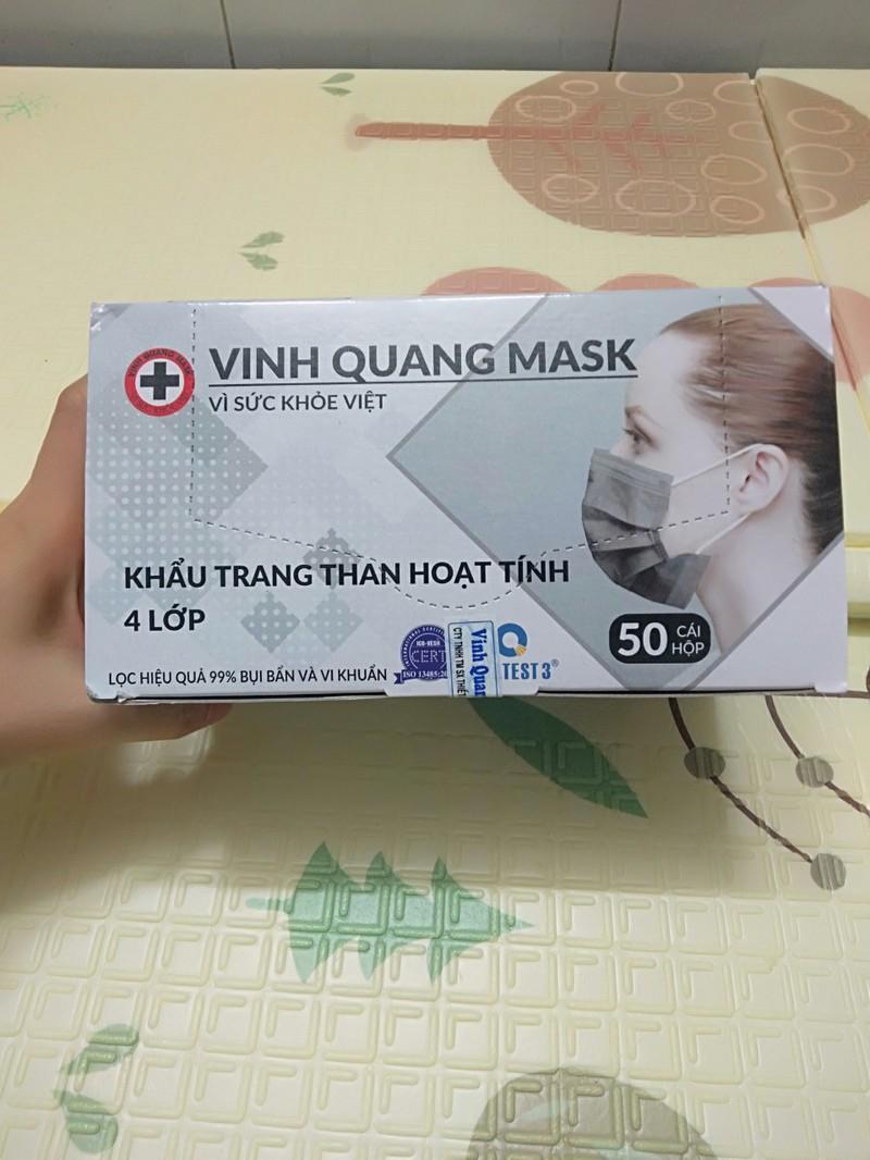 Khẩu trang y tế than hoạt tính 4 lớp VINH QUANG Mask kháng khuẩn 99% VI KHUẨN VÀ BỤI MỊN - QC KHẨU TRANG 4 LỚP 2