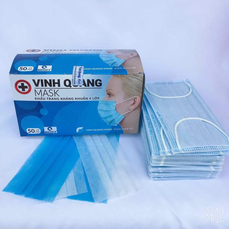 Khẩu trang y tế than hoạt tính 4 lớp VINH QUANG Mask kháng khuẩn 99% VI KHUẨN VÀ BỤI MỊN - QC KHẨU TRANG 4 LỚP 1