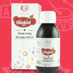 (CAM KẾT CHẤT LƯỢNG) Ginkid Nhuận tràng Bổ sung chất xơ, hỗ trợ hệ tiêu hóa, giúp giảm chứng táo bón, phân sống, đầy hơi, chướng bụng