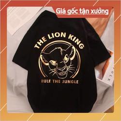 (Thun LION ) HighQuality Áo Thun Tay Lỡ THE LION KING in Nhũ VàngCotton 100 Siêu chất Siêu đẹp mà giá quá hời
