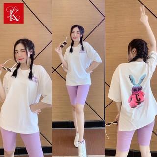 Set Bộ Cotton Lửng Tay Lỡ In Thỏ Dễ Thương - SBL_6113 thumbnail