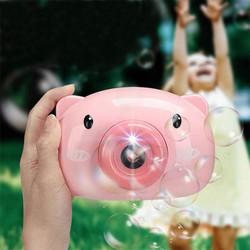 Đồ chơi máy chụp ảnh thổi bong bóng mẫu heo hồng siu xinh