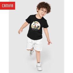 Áo phông unisex trẻ em CANIFA, áo thun cho bé trai, bé gái - 3TS21S002
