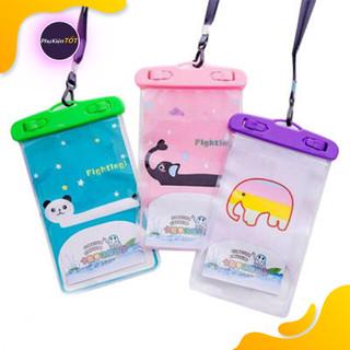 Túi đựng điện thoại chống nước hình thú hoạt hình cute đi du lịch, đi biển, ngoài trời, trời mưa, bảo vệ điện thoại, iphone (Màu Ngẫu Nhiên) - Túi đựng điện thoại chống nước thumbnail