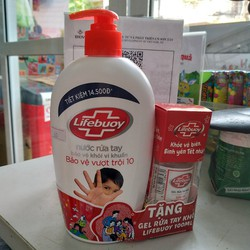 Nước rửa tay Lifebuoy 500g tặng chai gel rửa tay 100ml