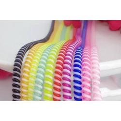 Dây quấn Tai nghe - Dây sạc điện thoại nhiều màu ( Được chọn màu )