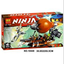 [Ảnh thật] Lắp ráp xếp hình NOT Lego Ninjago 70603 , Bela 10448 : Tấn Công Khinh Khí Cầu Hải Tặc 294 mảnh