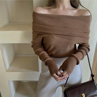 [Áo len nữ trễ vai] Áo len tăm trễ vai, áo len trễ vai nữ hàng quảng châu - HE5722N thumbnail