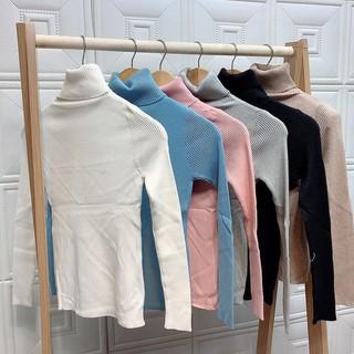 1Z13 Áo len tăm cổ lọ áo len cổ cao 15cm phong cách Hàn Quốc freesize A32 - Ok169Ez thumbnail