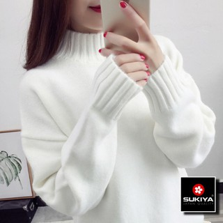Áo len nữ cổ cao chất dày dặn dáng rộng đẹp AL11 - HE4222N thumbnail
