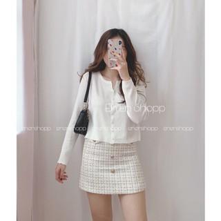 Áo len khoác kiểu cổ V - khuy vuông phong cách Hàn Quốc (E188 ) - Rjo80R thumbnail