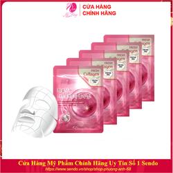 Combo 10 Túi Mặt nạ giấy - Mặt nạ dưỡng da chiết xuất Collagen 3W Clinic Hàn Quốc 23mlx10
