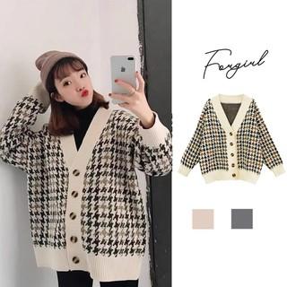 Áo cadigan len thổ cẩm phối cúc Quảng Châu cao cấp - HE3522N thumbnail