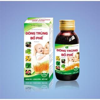 [Combo 2 chai] Siro Đông Trùng Bổ Phế giảm ho, giảm đờm, giảm đau rát cổ họng cho bé t - CB đông trùng bổ phế thumbnail