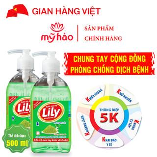 Nước Rửa Tay Khử Mùi LiLy Hương Trà Xanh (Chai 500ml) - NRT_TRAXANH500ML thumbnail