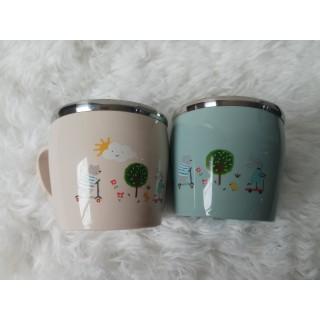 Cốc uống nước cho bé 2 lớp cách nhiệt chống nóng có tay cầm siêu xinh - SP000262 thumbnail