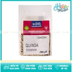 Hạt Diêm Mạch (Quinoa) Hỗn Hợp 3 Màu Hữu Cơ Sottolestelle 250gr - Organic Tricolor Quinoa