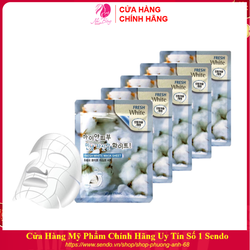 Combo 10 túi mặt nạ dưỡng da - Mặt nạ giấy trắng da tuyết 3W Clinic Hàn Quốc 23ml x 10