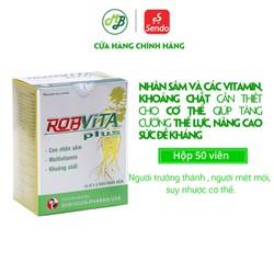 Viên uống giúp tăng cường thể lực , chống mệt mỏi , suy nhược cơ thể - ROB VITA Plus hộp 50 viên - Medi beauty