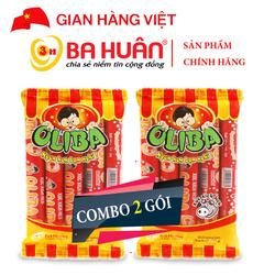 Combo 2 gói Xúc Xích Tiệt Trùng Oliba Heo 175g - Ba Huân (5 cây x 35g)