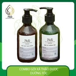 Combo gội xả thảo dược dưỡng tóc hair care PhoTre chai lớn giúp giảm rụng tóc ,  giảm bạc tóc, chăm sóc tóc hiệu quả